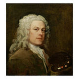 Self Portrait, c.1735-40 Giclee Print by William Hogarth