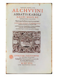 Title Page from &#39;Abbatis Karoli Magni Regis&#39; by Alcuin, Published in 1617 (Engraving) Giclee Print by  French
