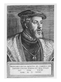 Emperor Charles V, 1531 (Engraving) Giclee Print by Barthel Beham