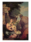 Rest on the Flight into Egypt (Oil on Canvas) Giclee Print by Paolo Veronese