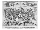 View of Jerusalem, 1570  (Engraving) (B/W Photo) Giclee Print by Etienne Duperac