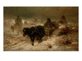 Returning Home, 19th Century Giclee Print by Adolf Schreyer