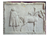 Relief Depicting a Horse Market, 2nd-3rd Century Ad (Stone) Giclee Print by  Roman