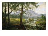Northern Landscape, 1822 Reproduction procédé giclée par Johan Christian Dahl
