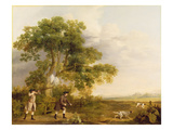 Two Gentlemen Shooting Giclee Print by George Stubbs