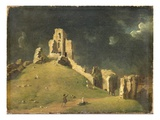Corfe Castle, Dorset, 1764 (Oil on Canvas) Giclee Print by John Inigo Richards