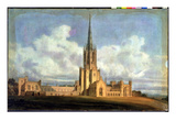 Projected Design for Fonthill Abbey, Wiltshire, 1798 (W/C on Wove Paper Backed with Linen) Giclee Print by Joseph Mallord William Turner