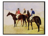 Study of Three Steeplechase Cracks: Allen Mcdonough on Brunette, Tom Oliver on Discount Giclee Print by John Frederick Herring I