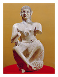 The Singer, Ur-Nina, 2800-2300 BC (Alabaster) Giclee Print by  Mesopotamian