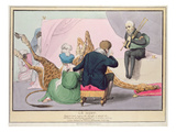 Le Mort', George IV (1762-1830), Caricature of the King Grieving the Death of the Giraffe Giclee Print by John Doyle