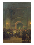 Liberation of Political Prisoners from the Mazas Prison, 21st January 1871 Giclee Print by Jules Didier