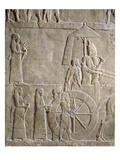 Relief Depicting the Chariot of King Assurbanipal and Elamite Prisoners Giclee Print by  Assyrian