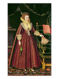Portrait of a Lady, Possibly Elizabeth, Countess of Kellie, c.1619-20 Giclee Print by Paul van Somer