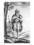 A British Druid, Engraved by Van Der Gucht, 1723 (Engraving) Giclee Print by William Stukeley