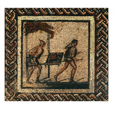 Transporting Manure, from Saint-Roman-En-Gal (Mosaic) Giclee Print by  Roman