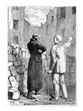 Jean Valjean Gets His Revenge, Illustration from 'Les Miserables' by Victor Hugo (1802-85) Premium Giclee Print by Gustave Brion