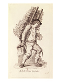 The Faggot Seller, from 'Petits Metiers De Paris' (Engraving) Giclee Print by  French