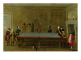 The Billiard Room (Oil on Canvas) Giclee Print by  English