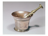 Apothecary's Pestle and Mortar, Early 18th Century (Brass and Copper) Premium Giclee Print by  English