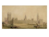 Perspective View of the New Houses of Parliament, C.1840S Giclee Print by Sir Charles Barry