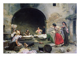 Washerwomen Disputing, 1871 Giclee Print by Jose-Jimenes Aranda
