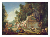 Fete Galante in Honour of Bacchus Giclee Print by Jean Jacques Spoede