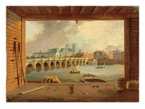 A View of Westminster Bridge (Oil on Panel) Premium Giclee Print by Daniel Turner