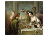 The Sense of Taste, C.1744-47 (Oil on Canvas) (See also 129301 and 129303) Giclee Print by Philippe Mercier
