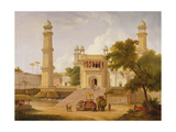 Indian Temple, Said to Be the Mosque of Abo-Ul-Nabi, Muttra, 1827 (Oil on Canvas) Giclee Print by Thomas Daniell