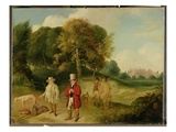 J. M. W. Turner (1775-1851) and Walter Ramsden Fawkes (1769-1825) at Farnley Hall, C.1820-24 Giclee Print by John Robert Wildman