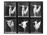 Dancing Woman, Plate 187 from 'Animal Locomotion', 1887 (B/W Photo) Giclee Print by Eadweard Muybridge