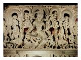 Lintel Featuring Hindu Trinity, from Waranal, Andhra Pradesh, Kakatiya Dynasty (Stone) Giclee Print by  Indian