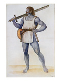 Ancient British Man (Lithograph) Reproduction proc&#233;d&#233; gicl&#233;e par John White
