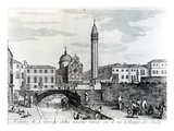 View of San Giorgio Dei Greci and the Flanginian School, Venice (Engraving) Giclee Print by  Italian