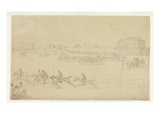 A Race of the Knavesmire at York (Pen and Ink with W/C on Paper) Giclee Print by Thomas Rowlandson
