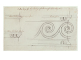 Design for the Mouldings on the Staircase, Headfort House, 1772 Giclee Print by Robert Adam
