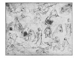 Temptation of St. Anthony (Recto) (Pen and Ink on Paper) (B/W Photo) Giclee Print by Hieronymus Bosch