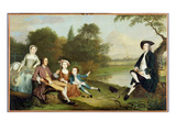 Portrait of a Family, Traditionally known as the Swaine Family of Fencroft, Cambridgeshire, 1749 Giclee Print by Arthur Devis