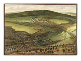 The North Prospect of Hampton Court, c.1699 Premium Giclee Print by Leonard Knyff