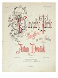 Dvorak's Slavonic Dances, Pub. by Simrock (Colour Litho) Giclee Print