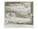 The Death of a Good Old Man, P.11, Illustration from 'The Grave, a Poem' Giclee Print by William Blake