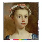 Sketch of a Young Girl, c.1730-40 Giclee Print by Joseph Highmore