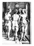 The Four Witches, 1497 (Engraving) Premium Giclee Print by Albrecht Dürer