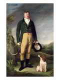 An Unknown Man with His Dog, 1815 Giclee Print by William Owen
