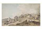 Donnybrook Fair, 1782 (Pen, Ink and W/C on Paper) Giclee Print by Francis Wheatley