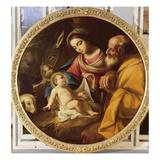 Holy Family (Tondo) Gicléedruk van Andrea Vaccaro