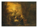 The Adoration of the Shepherds, C.1650 (Oil on Panel) Giclee Print by Jacob Willemsz de Wet or Wett