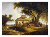 Ruins of the Naurattan, Sasaram, Bihar, 1811 (Oil on Canvas) Giclee Print by Thomas Daniell