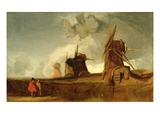 Drainage Mills in the Fens, Croyland, Lincolnshire, c.1830-40 Giclee Print by John Sell Cotman