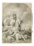 Death on a Pale Horse, C.1775 (Pen and Black Ink on Wove Paper) Giclee Print by John Hamilton Mortimer